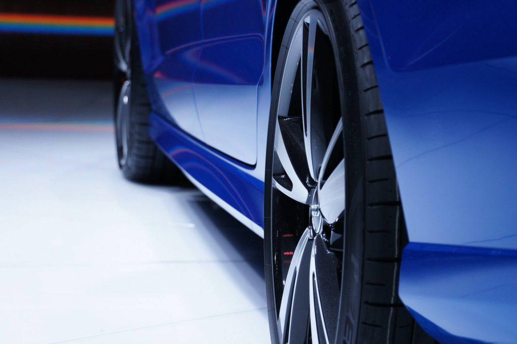 Car for repair, blue