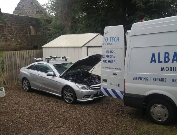 van at work on merc fault