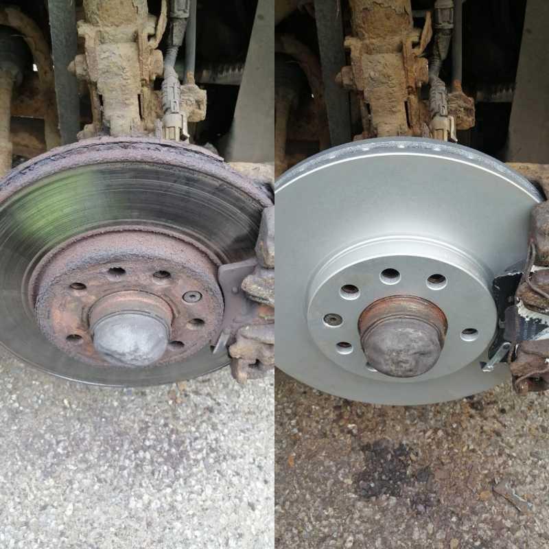 old and new zafira brakes